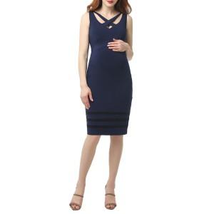 キミアンドカイ レディース ワンピース トップス Kimi and Kai Morgran Lace Trim Body-Con Maternity Dress Black