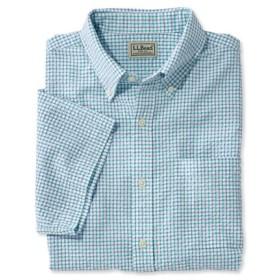 メンズ・シアサッカー・シャツ、半袖 タターソル/Men's Seersucker Shirt Short-Sleeve Tattersall