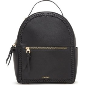 カルパック レディース バックパック・リュックサック バッグ CALPAK Kaya Faux Leather Round Backpack Black