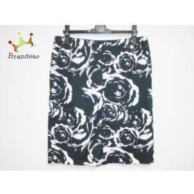 アドーア ADORE スカート サイズ38 M レディース 新品同様 黒×白 花柄   スペシャル特価 20190902