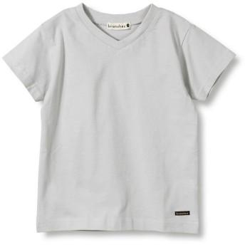 【25%OFF】 ブランシェス バックロゴ半袖Tシャツ(90~150cm) レディース ライトグレー 90cm 【branshes】 【セール開催中】
