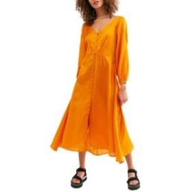 フリーピープル レディース ワンピース トップス Free People Later Days Midi Dress Tangerine