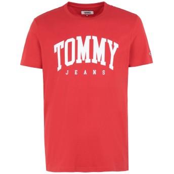 《期間限定 セール開催中》TOMMY JEANS メンズ T シャツ レッド S コットン 100% TJM ESSENTIAL LOGO T