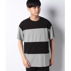 (koe/コエ)ボーダー切り替えTシャツ/メンズ ブラック