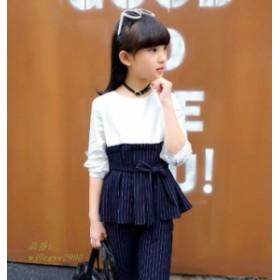 子供服 セットアップ キッズ服 長袖トップス ファッション 女の子 卒業式 パンツスーツ 春秋 ロングパンツ 韓国子供服
