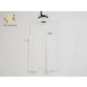 パパス Papas 半袖ポロシャツ サイズM メンズ 白×イエロー×マルチ   スペシャル特価 20190917