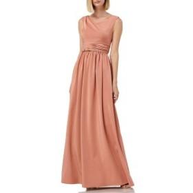 ケイアンガー レディース ワンピース トップス Kay Unger Sleeveless Draped Neckline Gown Deep Rose