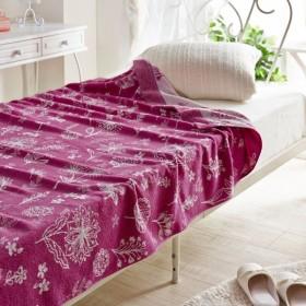 タオルケット ケット 綿100%ジャカード織のタオルケット カラー 「ピンク」