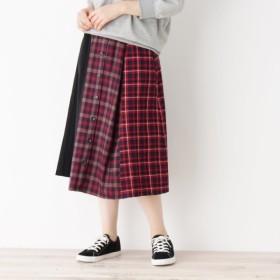 [マルイ]【セール】バイカラーチェックフロントボタンスカート/キューティーブロンド(Cutie Blonde)