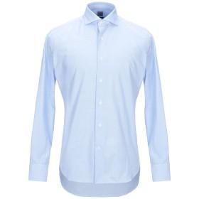 《期間限定セール開催中!》GRIGIO メンズ シャツ スカイブルー 39 コットン 100%