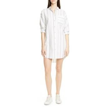エーティーエム レディース ワンピース トップス ATM Anthony Thomas Melillo Stripe Shirtdress Cream/ Black Combo