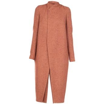 《セール開催中》RICK OWENS レディース コート 赤茶色 40 バージンウール 80% / ナイロン 20%