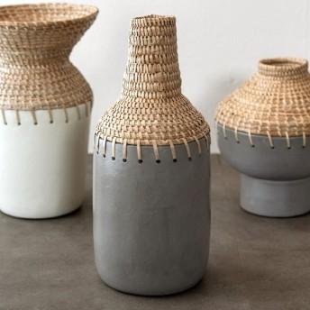 フラワーベース テラコッタ製 花瓶 陶器 生花 造花 ドライフラワー アートプランツ フェイクグリーン デコレーション 置物 アジアン雑貨 水入れ不可