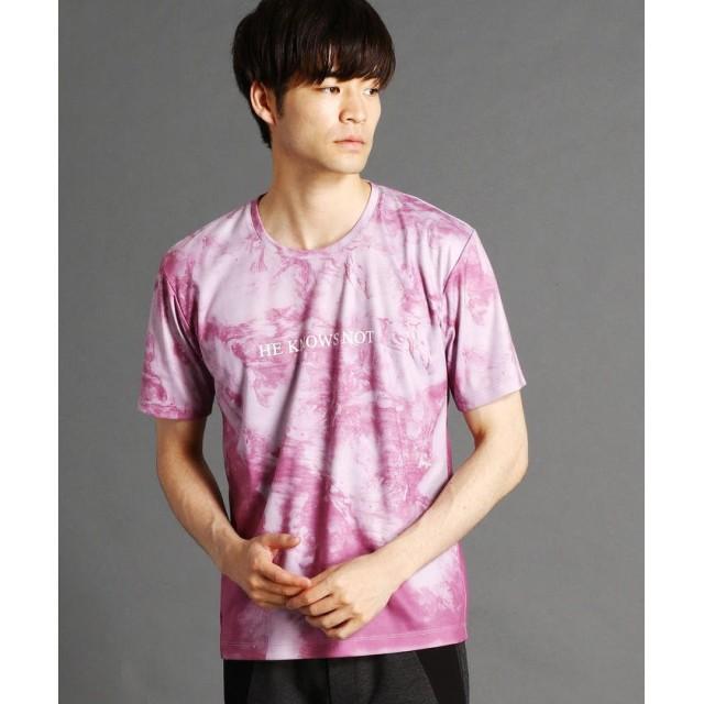 ニコルクラブフォーメン マーブルプリントTシャツ メンズ 08ピンク 46(M) 【NICOLE CLUB FOR MEN】