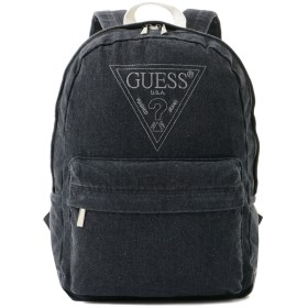 GUESS ゲス EMBROIDERY TRIANGLE LOGO DENIM BACKPACK