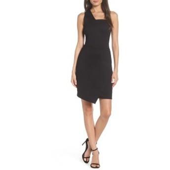 フライシュ レディース ワンピース トップス Fraiche by J One Shoulder Jersey Dress Black