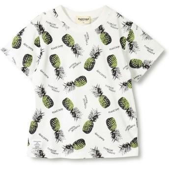 【25%OFF】 ブランシェス パイナップル柄半袖Tシャツ(90~140cm) レディース オフホワイト 100cm 【branshes】 【セール開催中】