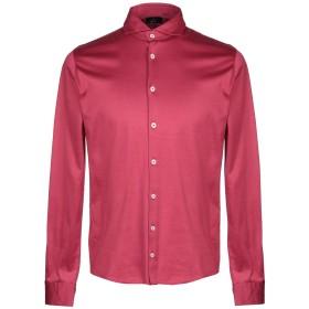 《セール開催中》BARBA Napoli メンズ シャツ ガーネット 48 コットン 100%