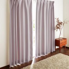 カーテン カーテン ドビー織で立体感を出したストライプ柄の遮光カーテン 「ピンク」