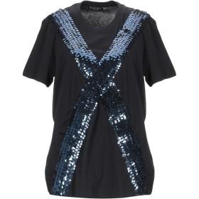《期間限定 セール開催中》MIKYRI レディース T シャツ ダークブルー XS コットン 100%