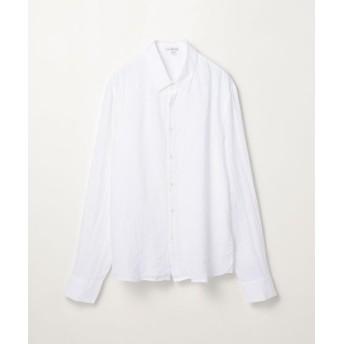 トゥモローランド スリムフィットリネンシャツ MJZ3082 メンズ 11ホワイト 2(L) 【TOMORROWLAND】