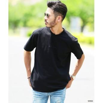 ジギーズショップ KANGOL (カンゴール) 刺繍ロゴTシャツ / Tシャツ クルーネック メンズ 半袖 ティーシャツ メンズ ブラック系1 S 【JIGGYS SHOP】