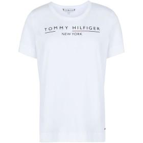 《期間限定 セール開催中》TOMMY HILFIGER レディース T シャツ ホワイト XS オーガニックコットン 100% CHRISTA C-NK TEE SS