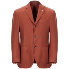 《期間限定セール開催中!》LARDINI メンズ テーラードジャケット ブラウン 48 カシミヤ 100%