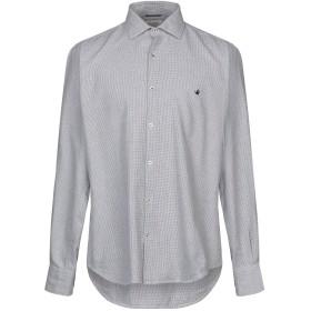 《期間限定セール開催中!》BROOKSFIELD メンズ シャツ グレー 42 コットン 100%