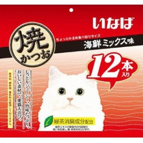 いなば 焼かつお 海鮮ミックス味 12本【キャットフード/猫用おやつ/猫のおやつ・猫のオヤツ・ねこのおやつ】