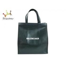 バレンシアガ BALENCIAGA トートバッグ 美品 - 541842 黒×白 レザー  値下げ 20190616