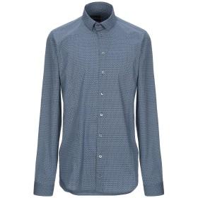 《セール開催中》PATRIZIA PEPE メンズ シャツ アジュールブルー 46 コットン 97% / ポリウレタン 3%