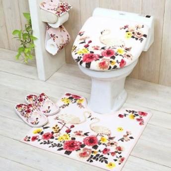 トイレマット トイレふたカバー セット おしゃれ 洗浄用 フタカバー トイレ用品 フラミンゴ トイレマットシリーズ