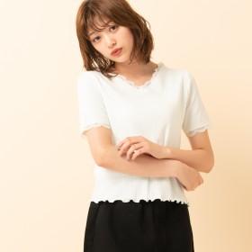 Tシャツ - RETRO GIRL ○RETRO GIRL○ レースリブVネックTee
