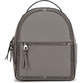カルパック レディース バックパック・リュックサック バッグ CALPAK Kaya Faux Leather Round Backpack Charcoal