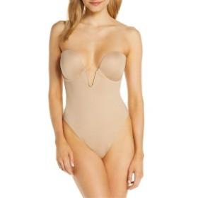 フェリナ レディース ワンピース トップス Felina Underwire Plunge Bodysuit Warm Nude
