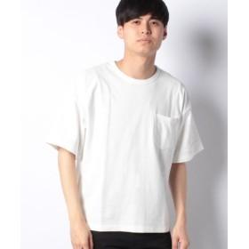 (koe/コエ)半袖ポケット付ミニ裏毛Tシャツ/メンズ オフホワイト