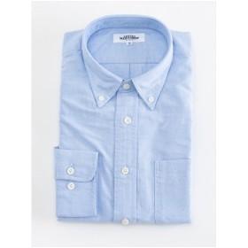 無地 オックスフォードボタンダウンシャツ(ブルー)【TEIJIN MEN'S SHOP】
