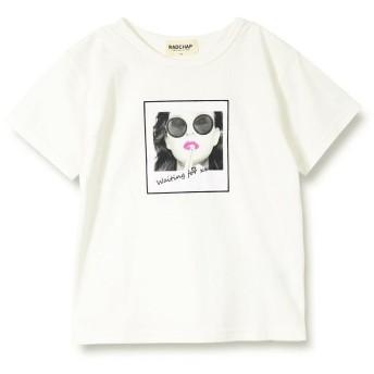【25%OFF】 ブランシェス 転写プリント半袖Tシャツ(90~140cm) レディース オフホワイト 110cm 【branshes】 【セール開催中】