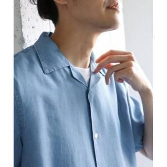 (URBAN RESEARCH DOORS/アーバンリサーチドアーズ)テンセルデニムオープンカラーシャツ/メンズ BLUE