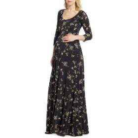 ティファニーローズ レディース ワンピース トップス Tiffany Rose Samantha Maternity Maxi Dress Black