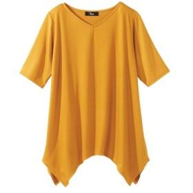 ハンカチーフ裾プルオーバー (大きいサイズレディース)Tシャツ・カットソー