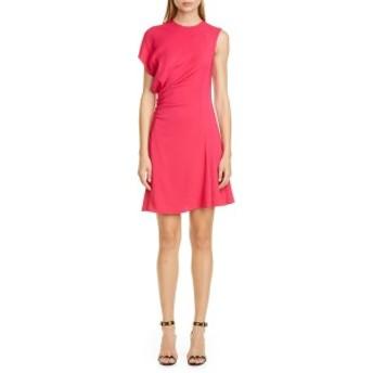 ヴェルサーチ レディース ワンピース トップス Versace Asymmetrical Minidress Pink