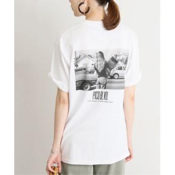 SLOBE IENA 【小林昭/コバヤシアキラ(KOBAK AKIRA)】SLOBE別注 PICO BLVD. Tシャツ◆ ホワイト フリー