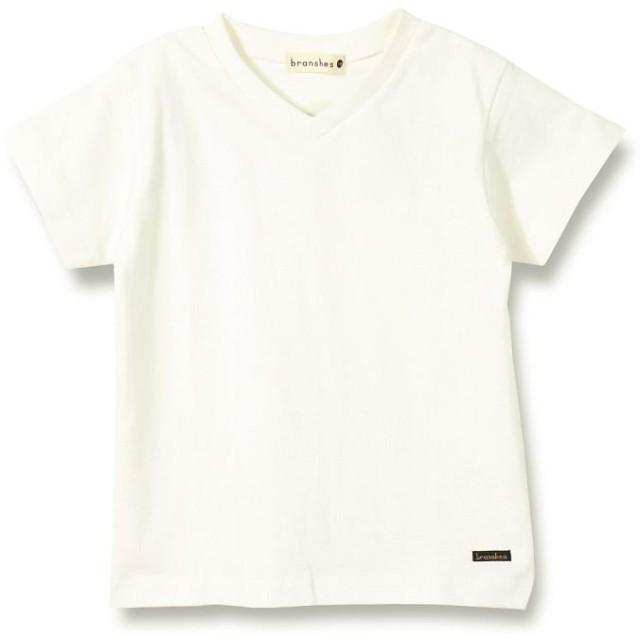 【25%OFF】 ブランシェス バックロゴ半袖Tシャツ(90~150cm) レディース オフホワイト 110cm 【branshes】 【セール開催中】