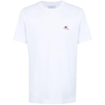 《期間限定セール開催中!》CALVIN KLEIN メンズ T シャツ ホワイト S コットン 100% VINTAGE LOGO BADGE T