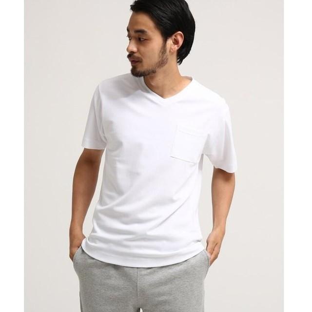 BASE STATION / ベースステーション SB ポンチ Vネック 半袖Tシャツ