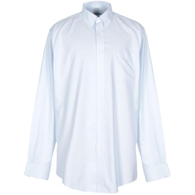 《期間限定 セール開催中》BROOKS BROTHERS メンズ シャツ スカイブルー 16 スーピマ 100%