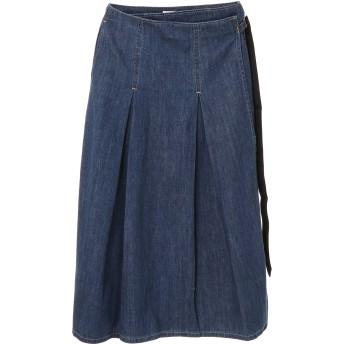 woadblue woadblue(ウォードブルー) SAFINIA/ラップスカート ミモレ丈・ひざ下丈スカート,BLUE