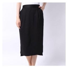 グリーンパークスアウトレット Green Parks outlet ツイルスリットタイトスカート (ブラック)